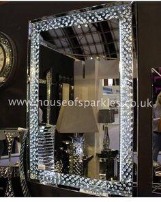 #glam #mirror #sparkles #decor #LED #crystal