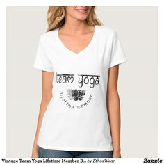 50% OFF White T-Shirts. 9-24 Only. Vintage Team Yoga.CODE: WHITETEE4YOU #tee #tshirt