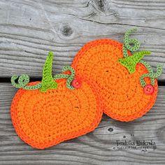 Crochet de citrouille coaster modèle bricolage par VendulkaM