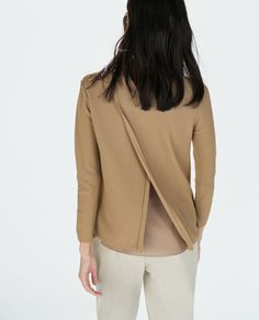 Image 4 of LAYERED SWEATER WITH SHEER FABRIC from Zara