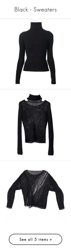 """Black - Sweaters"" by zakhx ❤ liked on Polyvore featuring tops, sweaters, shirts, blouses, long sleeves, black, turtle neck shirt, turtle neck sweater, long-sleeve shirt and turtleneck shirt"