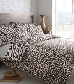 New Animal Print Duvet Sets Zebra Leopard Safari Wolf Quilt Cover Bed Sets
