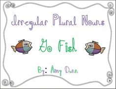 Free!! Irregular plural nouns Go Fish.