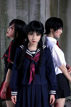 SAYA from Blood +, Blood -c, & Blood the Last Vampire Cosplay || anime cosplay