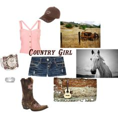 Country Girl Casual, created by edmahanay on Polyvore