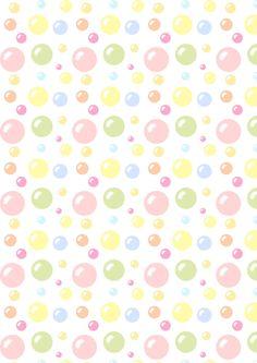 FREE printable bubbles pattern paper | meinlilapark