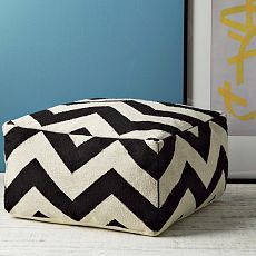 Zig zag pouf. -- can i make one like this for the babe's room?