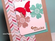 Stampin' Up Gee Thanks Handmade Card