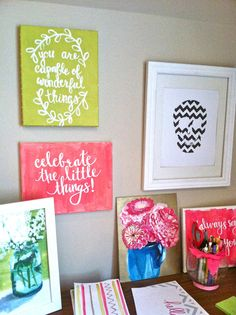 Quote Canvas You are capable of wonderful things by EvelynHenson, $28.00
