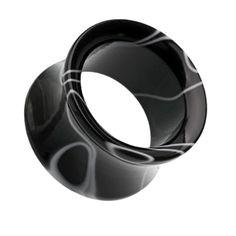 Marbled Swirl Acrylic Double Flared Ear Gauge Tunnel Plug