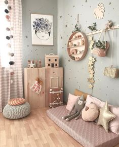 What a beautiful, cosy kid's room corner by 👈🏻 Featuring many of our favorite items, all available online from our store 💫… Baby Room Decor, Nursery Room, Kids Bedroom, Cat Bedroom, Girl Nursery, Bedroom Ideas, Kids Room Design, Little Girl Rooms, Girl Kids Room