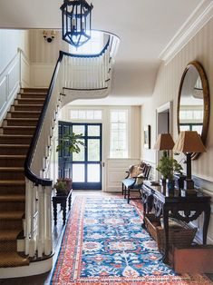 Dutch Colonial style house by Gil Schafer in Middletown New Jersey as featured in Traditional Home September 2017 Interior design by Libby Cameron and landscape architecture by Miranda Brooks Landscape Design Photography by Eric Piasecki # Dutch Colonial Homes, Modern Colonial, Colonial House Decor, Dutch Colonial Exterior, Loft Interior, Home Interior Design, Interior Doors, Traditional Interior, Traditional House
