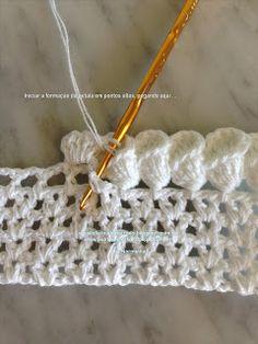 amazing bell flower edging! - Direct link to pictorial ~ crochet petal edging.