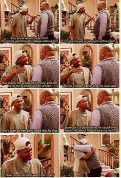 The moment you relies he wasn't acting his dad really did leave him when he was younger this wasn't in the scripted