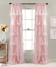 Aren't these pretty? Remind me of a ballerinas tutu. Loving this Pink Nerina Window Curtain on #zulily! #zulilyfinds