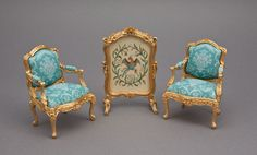 John Hodgson furniture, Sue Bakker petit point screen