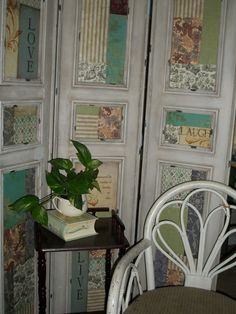 Homemade Shutters, Diy Privacy Screen, Diy Furniture Redo, Small Space Living, Creative Decor, Wood Projects, Decoupage, Garden Design, Bedroom Decor