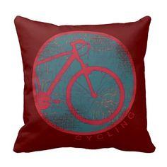 radfahrendes rotes Fahrrad Zierkissen