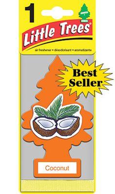 Car Freshner COCONUT:: Little Trees Card Packs - Dultmeier Sales