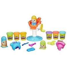 Play-Doh Crazy Cuts Kids Toy Play Set, 6 Colors, 3 Characters, New, Free Ship