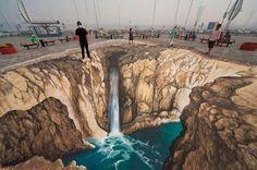 3D street art by Edgar Muller -Duality