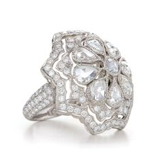 Rose cut diamond cocktail ring $11800