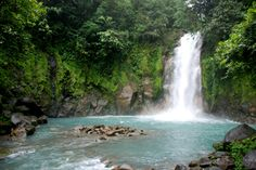 Celeste River Waterfall Costa Rica