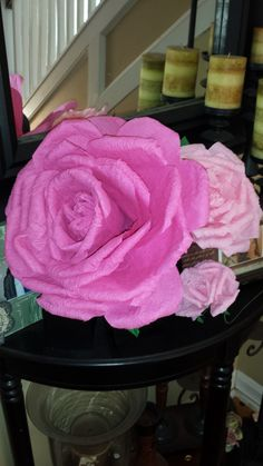 In this video I show you how to make a HUGE Crepe Paper Rose. It is a LONG video if you wanna watch it step by step live. I will also have it sped up so you ...