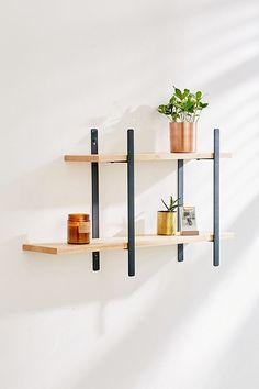 Anton Double Wall Shelf