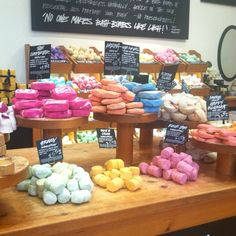 Lush - they're massage bars are AMAZING...and they're all natural