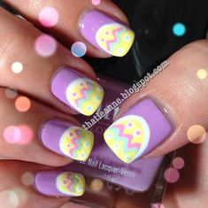 Easy Easter Nail Art see more designs on online nail dryer store