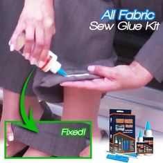 Shop OFF All Fabric Sew Glue Kit Ideas fabric Glue Kit sew Sewing hacks videos Shop Simple Life Hacks, Useful Life Hacks, Fabric Glue, Fabric Crafts, Fabric Sewing, Fleece Fabric, Sew Ins, Cool Inventions, Sewing Hacks