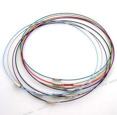 50x Kleurrijke Memory Steel Wire chokers ketting 460mm voor frezen 160201