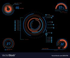 Orange and blue infographics as head-up display vector image on VectorStock Background Images Hd, Photo Background Images, Green Screen Backgrounds, Photo Backgrounds, Interface Design, User Interface, Ui Design, Fire Stock, Hd Background Download