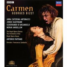 Bizet: Carmen (2008) ($18.27) http://www.amazon.com/exec/obidos/ASIN/B001CZVVXW/hpb2-20/ASIN/B001CZVVXW Highly recommended for all, first timers as well as well versed in Carmen productions. - If they give awards for opera performances, Anna Caterina Antonacci as Carmen and Jonas Kaufmann as Don Jose are surely both deserving of the highest honors. - Sound and picture quality are excellent.