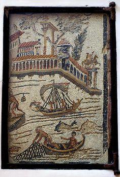 No sólo se utilizaban escenas de ocio. También escenas de la vida cotidiana, como escenas agrícolas o pesqueras.
