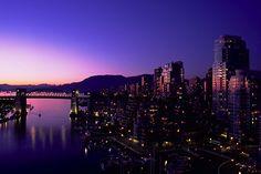 Vancouver Sunset False Creek #Vancouver #sunset #false #creek #beautiful #beautiful #nightfall #canada #downtown