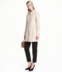 Strukturvævet frakke | Lys beige | Dame | H&M DK