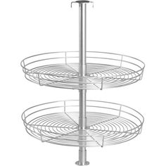Effortlessly organize your cabinets with this 2-tier lazy Susan, featuring a metal wirework design and an extending center pole.  Pr...$41