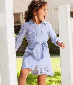 Shirt Dress | H US - I think Avery would be so cute in this!