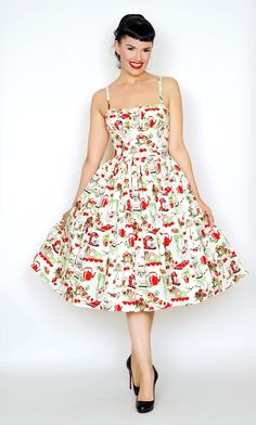 Paris dress In the Kitchen print