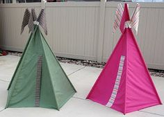 great way to make a play teepee using a sheet - simple sewing even I could do