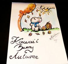 Kawaii bunny Autumn (●´∀`●)( ̄(エ) ̄)