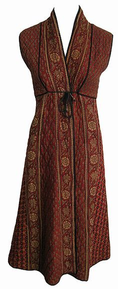 hippy clothes | ... sold items SOLD 70s Anokhi Quilted Block Print Hippy Chic Dress SOLD