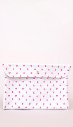 Pink Triangle Clutch