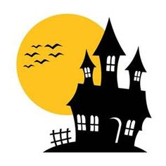free halloween haunted houses and lightnings clipart graphics and rh pinterest com clipart haunted halloween houses haunted house clipart free