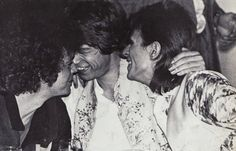 vintage everyday: Lou Reed, Mick Jagger and David Bowie Hanging Out Together at Café Royale, London, 1973
