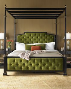 inspiration to diy upholster existing bed - minus so many tufts-NICE Master Bedroom Design, Home Bedroom, Bedroom Decor, Master Suite, Bedroom Ideas, Large Furniture, Bedroom Furniture, Furniture Design, Reupholster Furniture