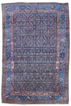 Antique Bijar Rugs Gallery: Antique Bijar Rug, Hand-knotted in Persia; size: 8 feet 4 inch(es) x 12 feet 6 inch(es)