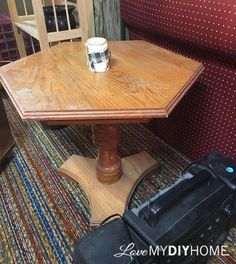 Time to rethink your table  Nice makeover!  #reuse #repurpose #recycle #upcycle #makeover #handmade #furnituremakeover #homedecor #decor #tablemakeover| sponsored